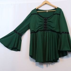 Victorian Style Bell Sleeve Boho Top